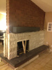 """Iindiana Buff"" Limestone Fireplace"