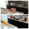 "Before & After ""Dreamy Marfil"" Caesarstone"