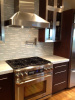 Soho glass stone tile backsplash